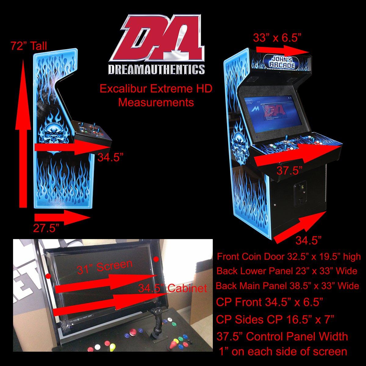 Arcade Games - ExcaliburHDmeasurements