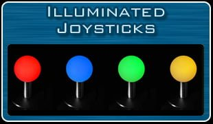 Arcade Machines Illuminated JoySticks
