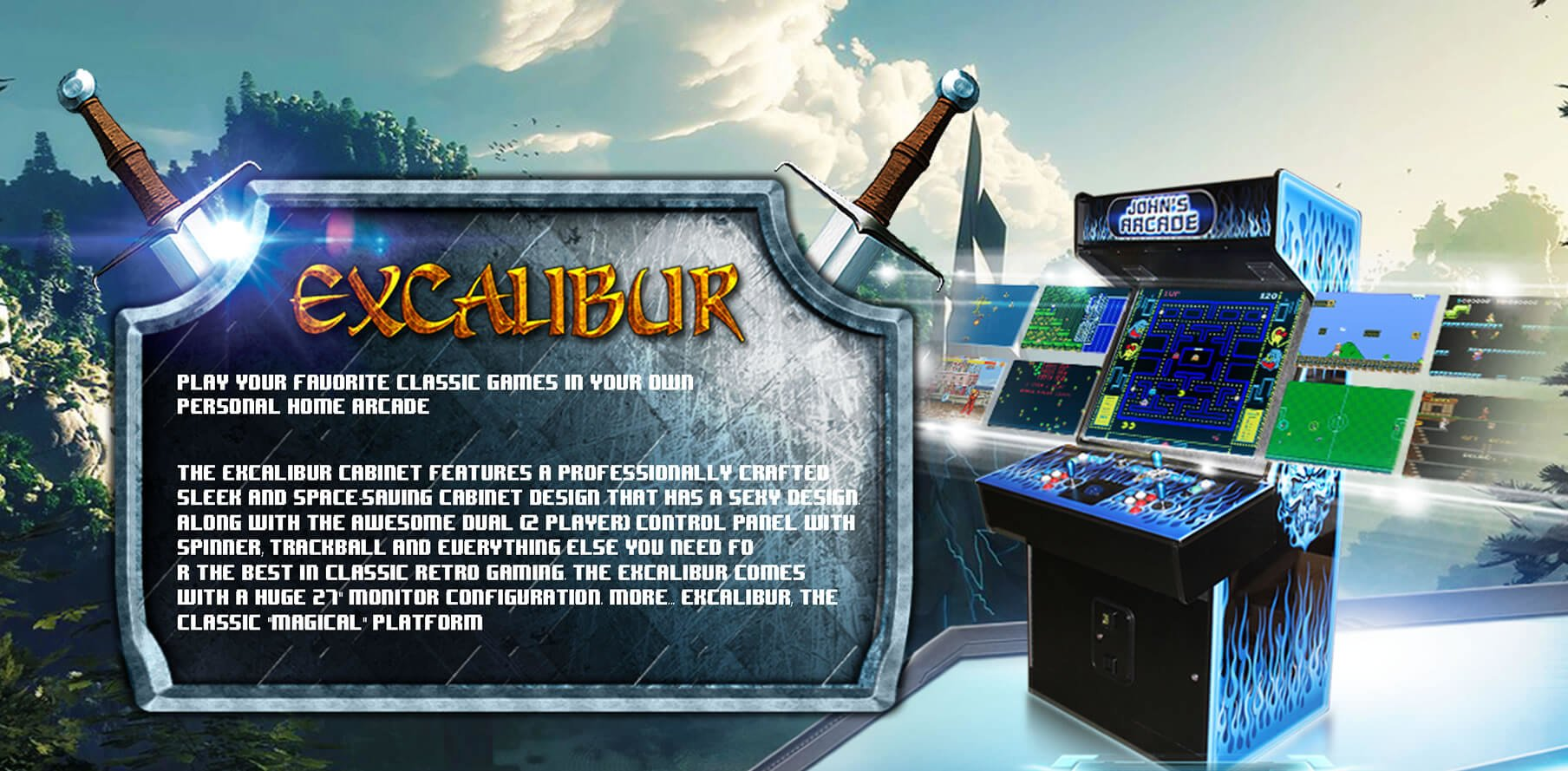 Arcade Machines Excalibur-Panel